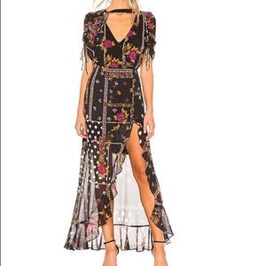 For Love And Lemons Stella Maxi Dress in Patchwork